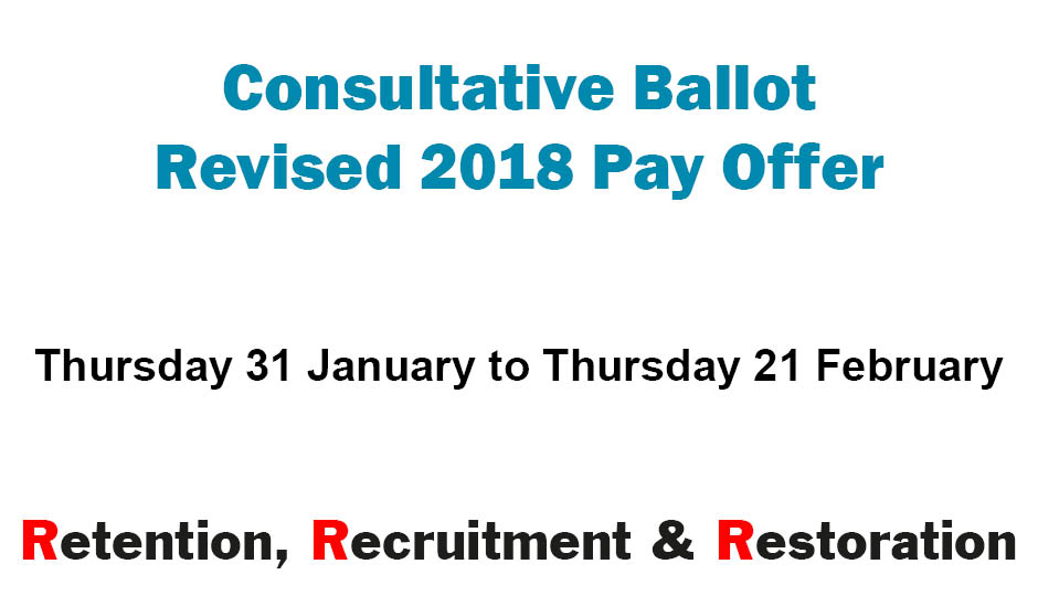 Consultative Ballot on Revised 2018 Pay Offer is Now Open